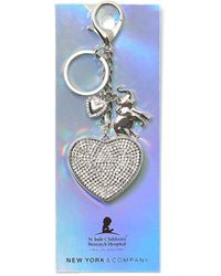 New York & Company Silvertone Pave Keychain - St. Jude Collection - Metallic