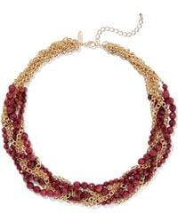 New York & Company - Goldtone Torsade Necklace - Lyst
