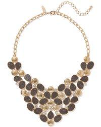 New York & Company - Sparkling Goldtone Statement Necklace - Lyst