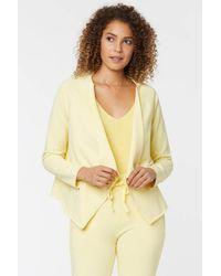 NYDJ Open Front Sweatshirt Jacket In Yellow Daisy - Blue