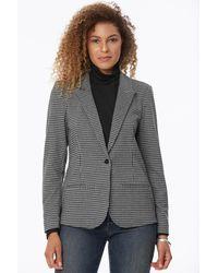 NYDJ Blazer Jacket In Jefferson Houndstooth - Gray