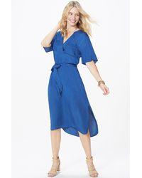 NYDJ Drapey Indigo Dress Blue
