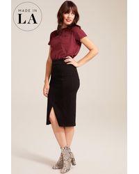 NYDJ Midi Skirt In Black
