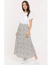NYDJ L'essence Pleated Skirt In Stone Cat - Multicolor