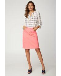 NYDJ 5 Pocket Jean Skirt In Pink Flamingo