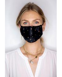 NYDJ Protective Face Mask In Toss Dot Mocha - Black