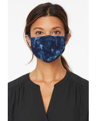 NYDJ Protective Face Mask In Indigo Tie Dye - Blue