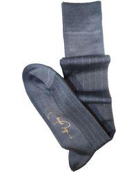 VK Nagrani - Over The Calf Cotton Herringbone Socks - Lyst
