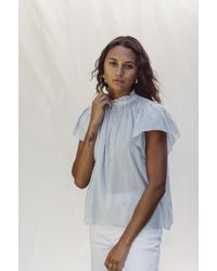 Birds Of Paradis Carla Highneck Shirt - Blue