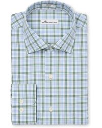 Peter Millar - Crown Finish Linded Check Sport Shirt - Lyst