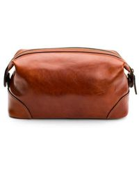 Bosca Shave Kit Dolce Leather - Brown