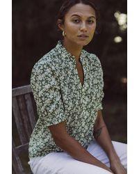 Birds Of Paradis Eloise Short Sleeve Pintuck Shirt - Multicolor
