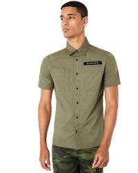 Oakley Dark Brush Icon Short Sleeve Shirt - Verde