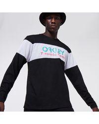 Oakley Tnp Fiery Stripe Ls Tee - Black
