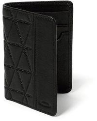 Oakley Jet Black Leather Slim Wallet
