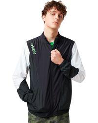 Oakley Blackout Nylon Track Jacket - Zwart