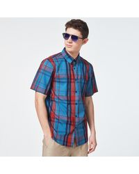 Oakley Beyond Basic Check Short Sleeve Shirt - Blue