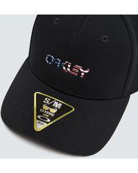Oakley 6 Panel Stretch Metallic Hat - Negro