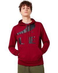 Oakley Big Logo Ellipse Hoodie - Rojo
