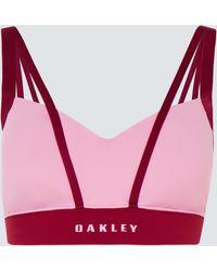 Oakley Criss Cross Sports Bra - Roze