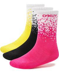 Oakley Blackout Socks Gradient (3 Pcs Pack) - Nero