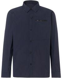 Oakley Utility Ls Nylon Shirt - Blue