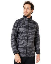 Oakley Black Print Enhance Graphic Wind Warm Jacket 8.7 - Schwarz