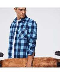 Oakley Essential Plus Lt Flannel Ls - Bleu
