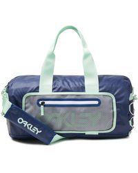 Oakley Blue 90's Small Duffle Bag - Blauw