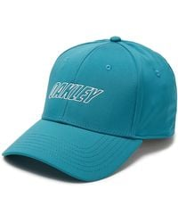 Oakley Petrol 6 Panel Waved Hat - Blau