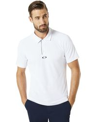 Oakley White Polo Piping Short Sleeve - Weiß