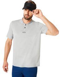 Oakley Stone Gray Polo Short Sleeve Bomber Collar - Grau