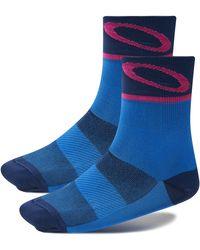 Oakley Electric Shade Cycling Socks - Blau