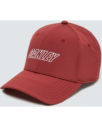 Oakley Red 6 Panel Waved Hat - Rot