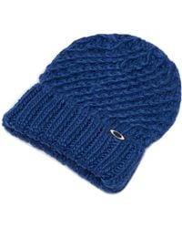 Oakley Dark Blue Beanie Mix Yarn - Blau