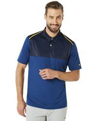 Oakley - Dark Blue Polo Shirt Ss Color Block - Lyst