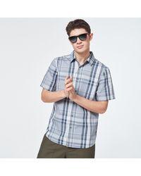 Oakley Gray Check Beyond Basic Check Short Sleeve Shirt - Grau