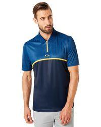 Oakley Polo Shirt Short Sleeve Colour Block Camou - Blue