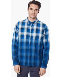 Oakley Gradient Plaid Button-down Shirt - Blue