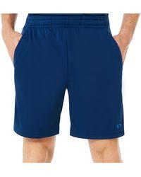 Oakley Blue Enhance Technical Short Pants 8.7 7inch - Blau
