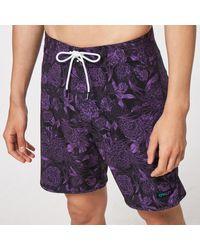 Oakley Dark Floral 18 Rc Boardshorts - Lila