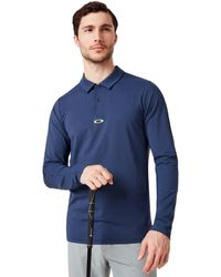 Oakley S 2019 Engineered Insert Ls Polo Shirt - Blue