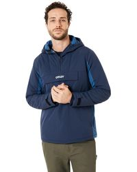 Oakley Fathom Block Color Anorak Jacket - Blau