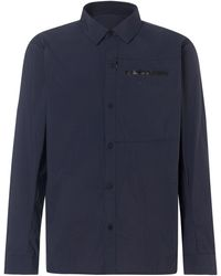 Oakley Fathom Utility Long Sleeve Nylon Shirt - Blau