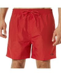 Oakley 16 Inches Solid Boardshort - Red