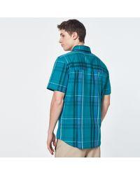 Oakley Beyond Basic Check Short Sleeve Shirt - Bleu