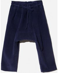 OAK - Cropped Karate Pant - Midnight Cord - Lyst