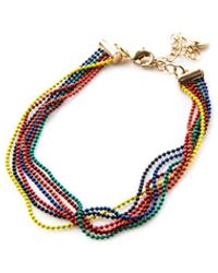 Oasis Rainbow Bead Bracelet - Metallic