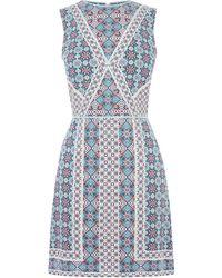 Oasis Paisley Shift Dress - Blue