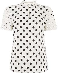 Oasis Patch Spot Print Top - White